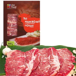 Thịt nạm bò Mỹ Orifood Hotpot Story hộp 300g