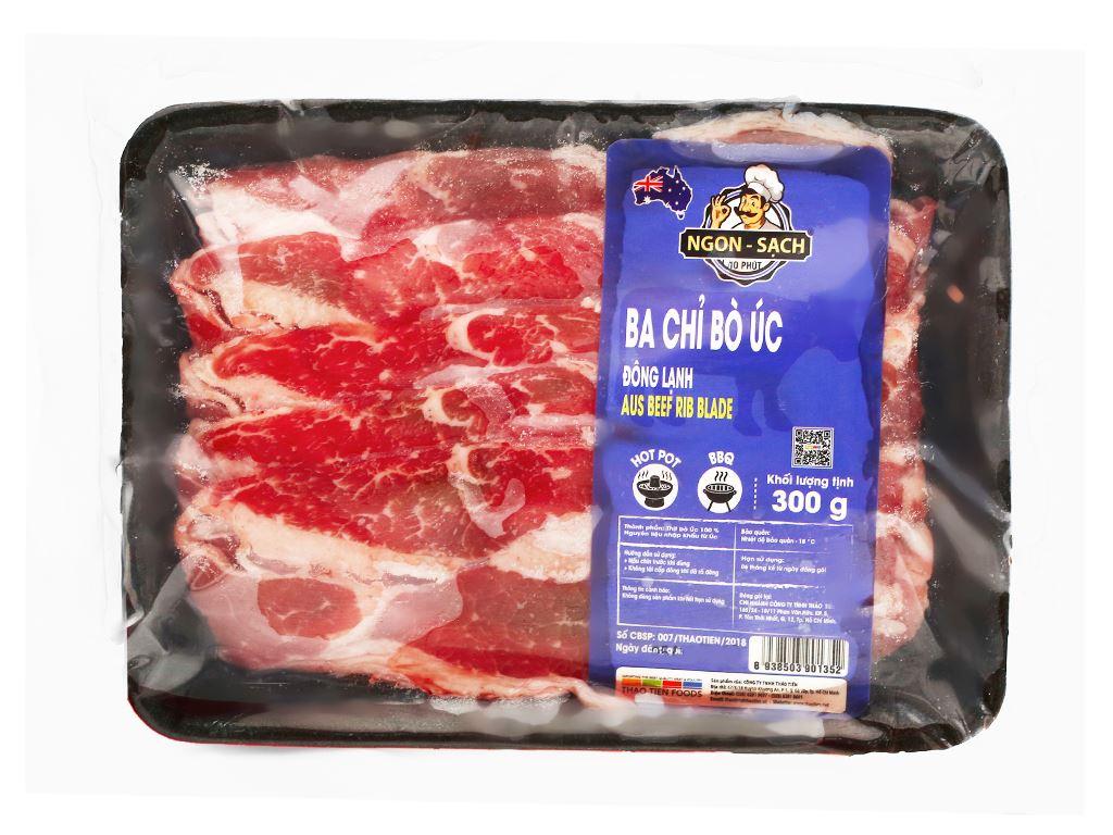 Ba chỉ bò Úc đông lạnh Thảo Tiến Foods khay 300g 4