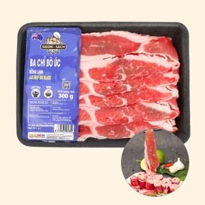 Ba chỉ bò Úc đông lạnh Thảo Tiến Foods khay 300g