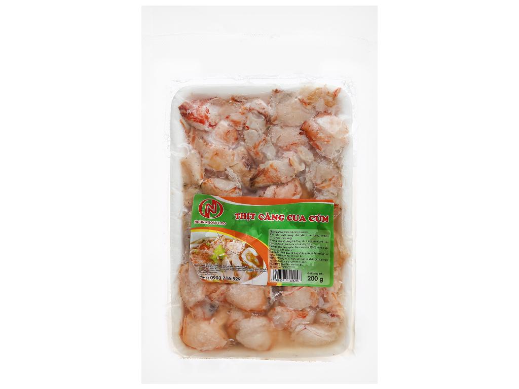 Thịt càng cua cúm đông lạnh Ngon Ngon Food gói 200g 1