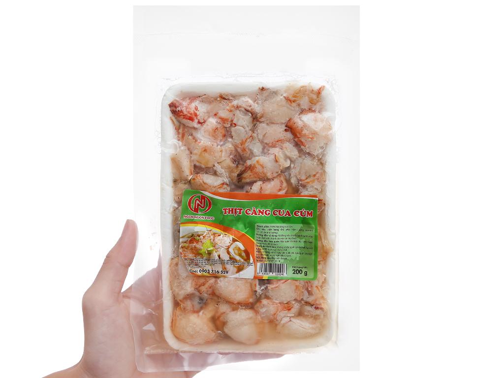 Thịt càng cua cúm đông lạnh Ngon Ngon Food gói 200g 4