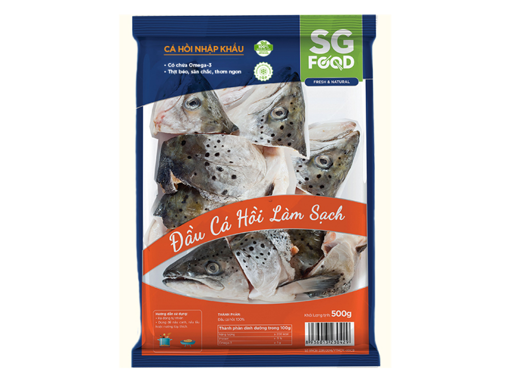 Đầu cá hồi làm sạch SG Food gói 500g 1