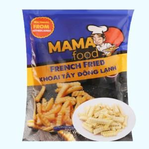 Khoai tây đông lạnh cắt lượn sóng Mama Food gói 500g