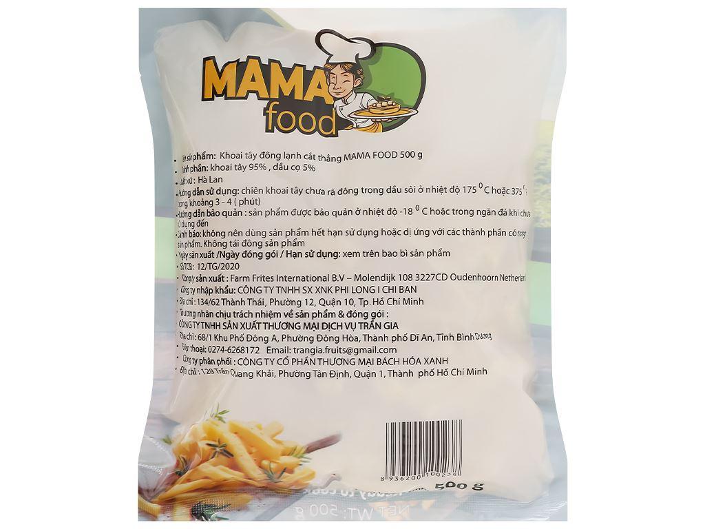 Khoai tây đông lạnh cắt thẳng Mama Food gói 500g 2