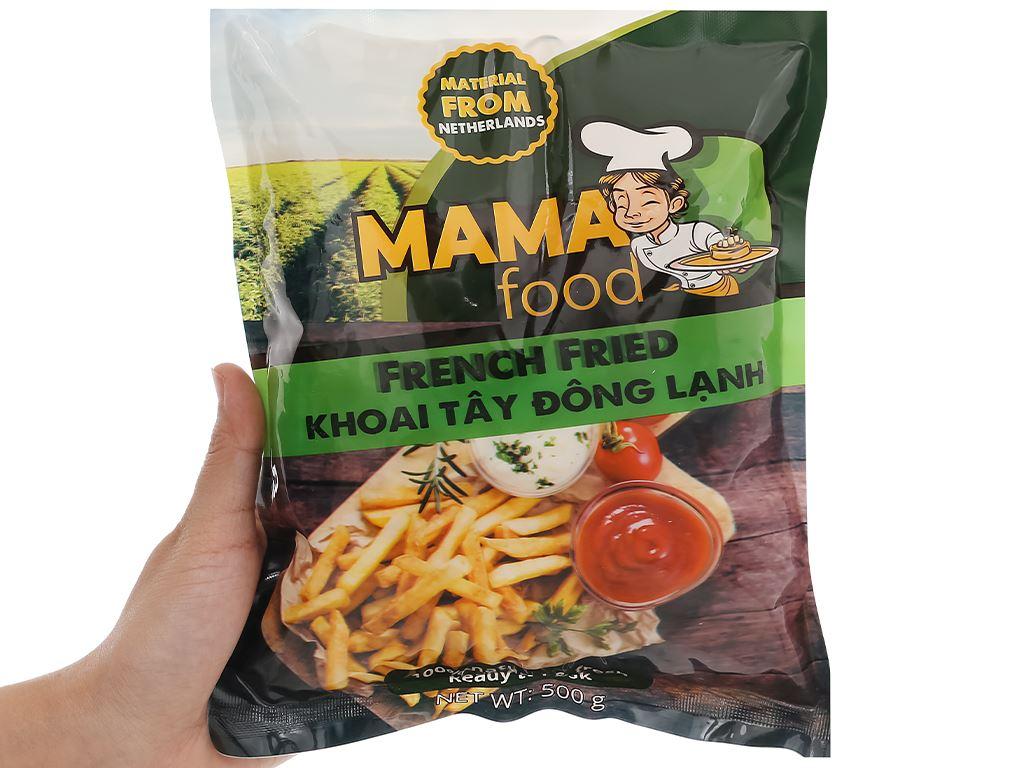 Khoai tây đông lạnh cắt thẳng Mama Food gói 500g 4