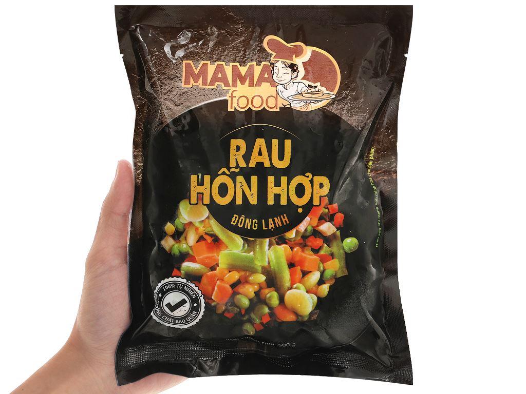 Rau hỗn hợp đông lạnh Mama Food gói 500g 4