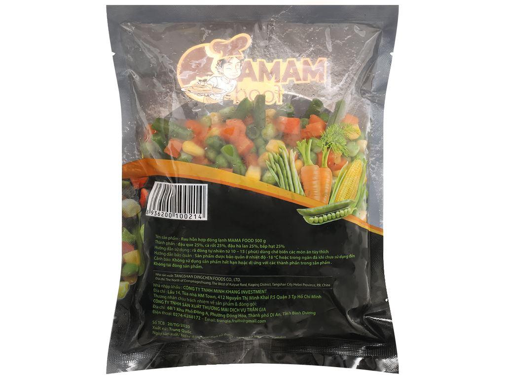 Rau hỗn hợp đông lạnh Mama Food gói 500g 2