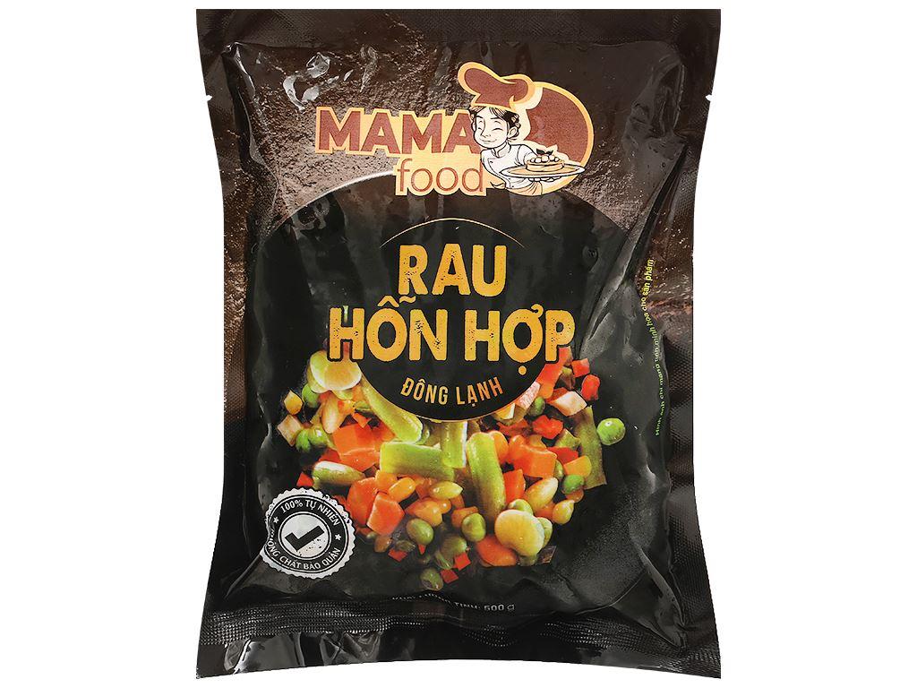 Rau hỗn hợp đông lạnh Mama Food gói 500g 1