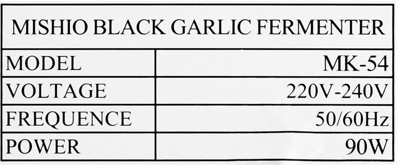 Công suất 90 W, nhiệt độ từ 50 - 80 độ, làm tỏi đen dễ thành công - Máy làm tỏi đen đa năng Mishio MK54