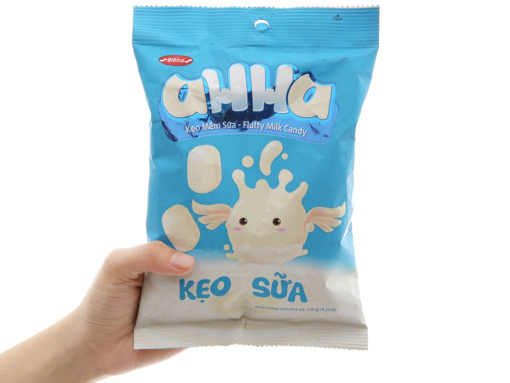 Kẹo mềm sữa AHHA gói 120g 3