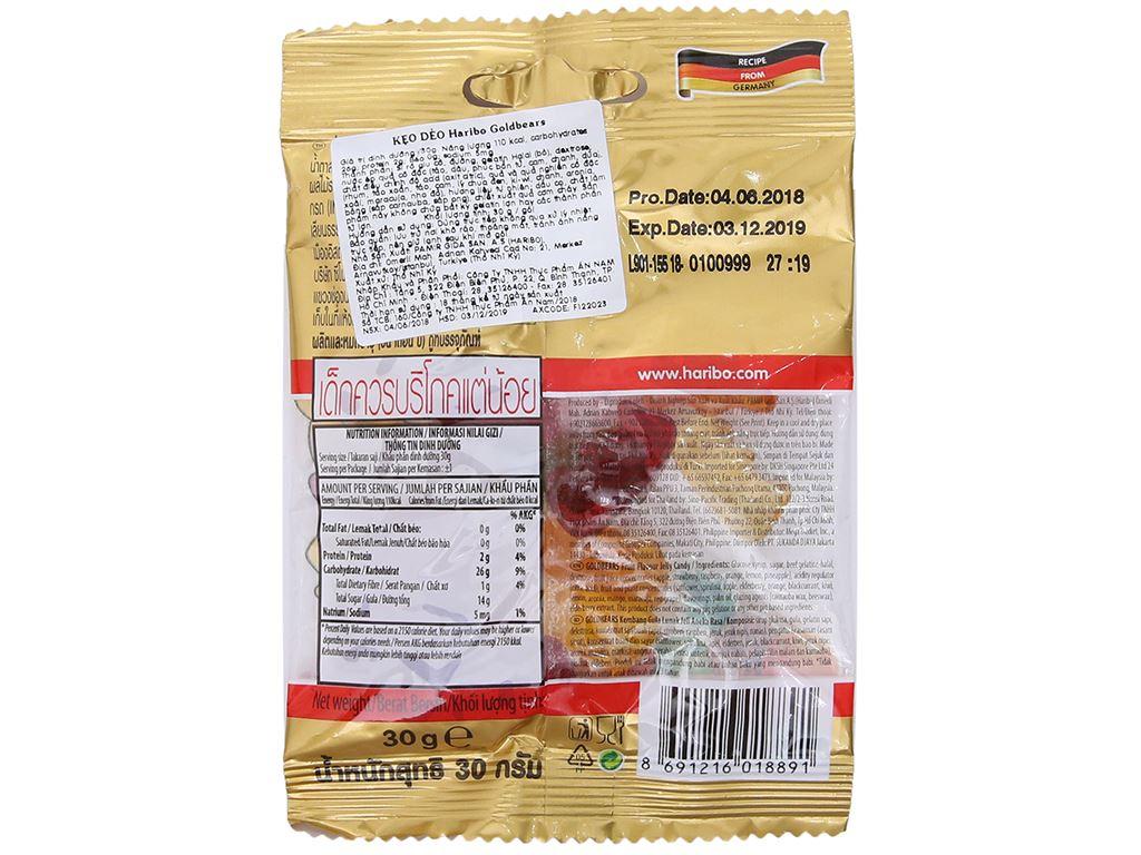 Kẹo dẻo trái cây Haribo Goldbears gói 30g 2