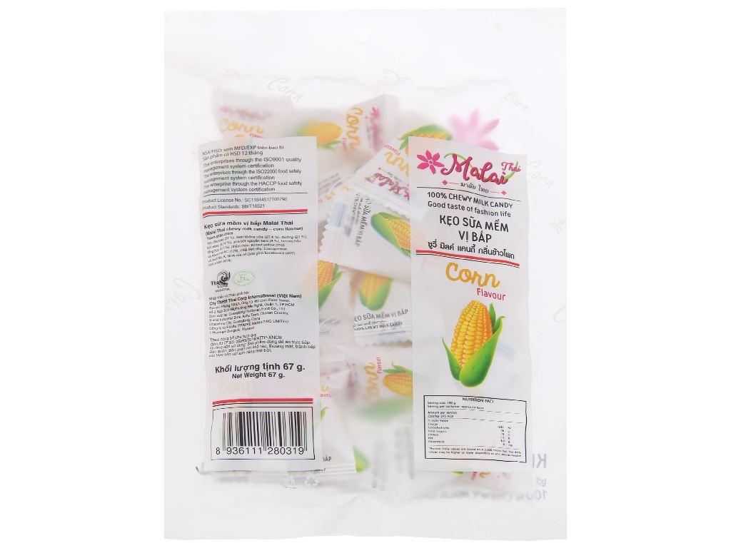 Kẹo sữa mềm vị bắp Malai Thai gói 67g 2
