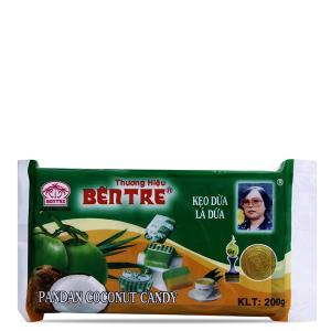Kẹo dừa Bến Tre lá dứa 200g