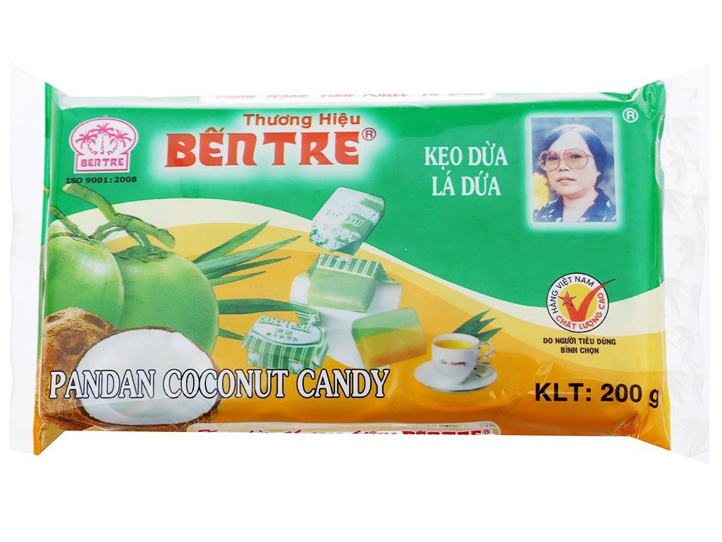 Kẹo dừa lá dứa Bến Tre gói 200g 1