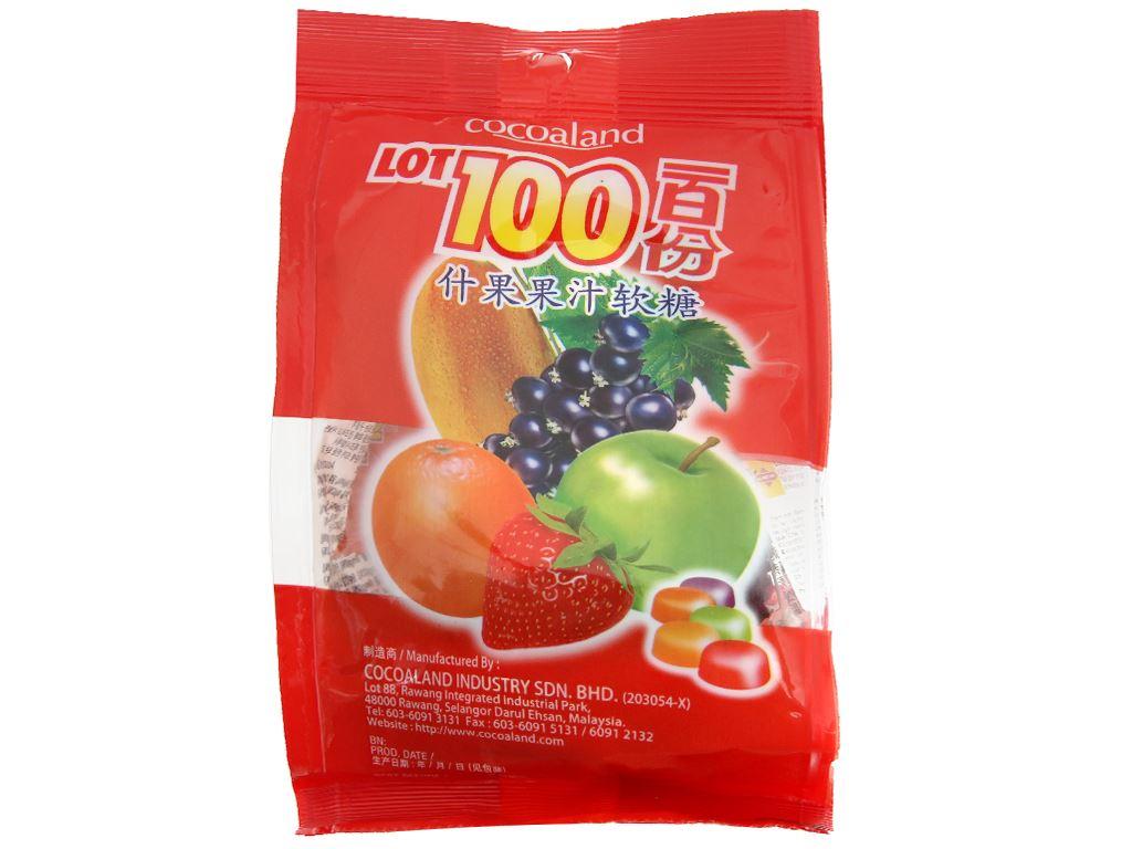 Kẹo dẻo vị trái cây LOT100 gói 84g 1