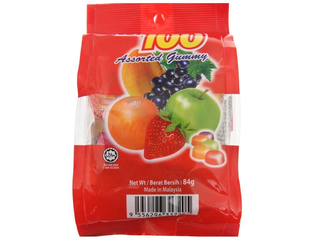 Kẹo dẻo vị trái cây LOT100 gói 84g 2