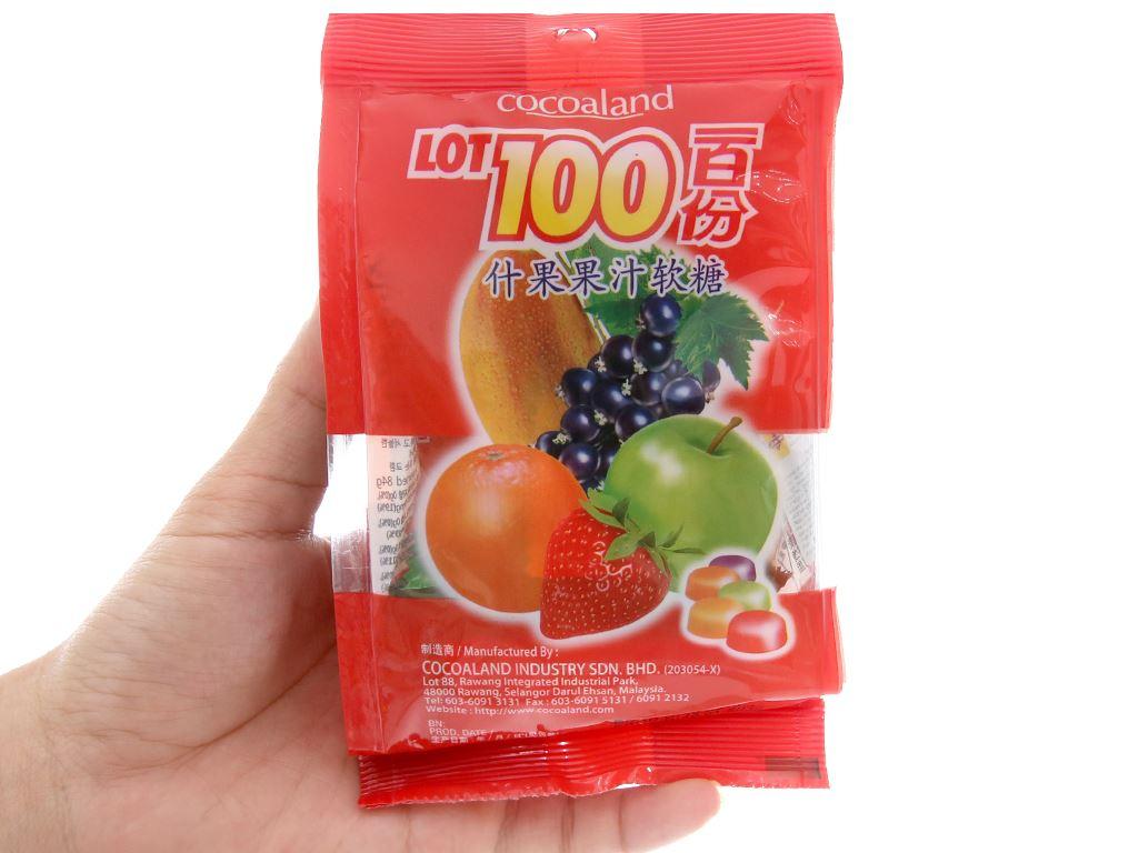 Kẹo dẻo vị trái cây LOT100 gói 84g 3
