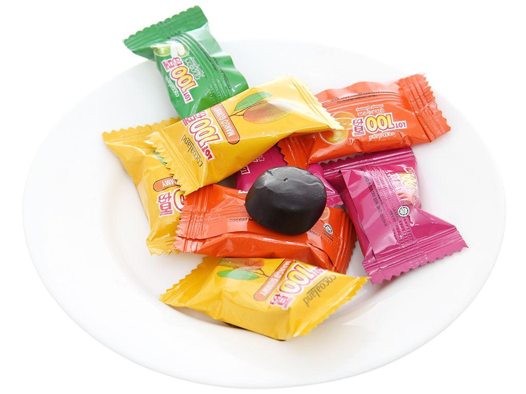 Kẹo dẻo vị trái cây LOT100 gói 84g 4