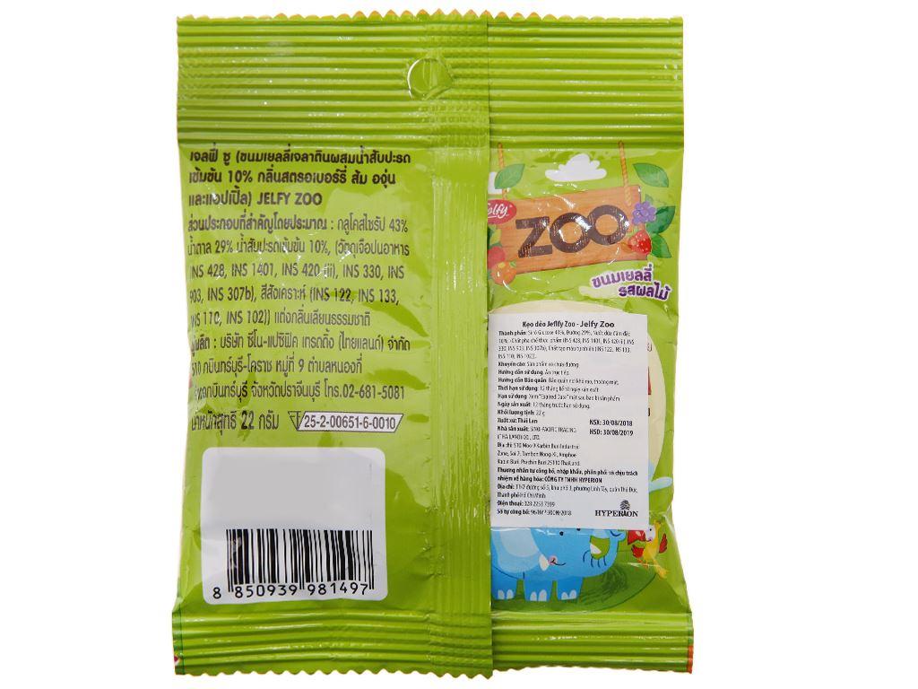 Kẹo dẻo Zoo Jelfy gói 22g 2