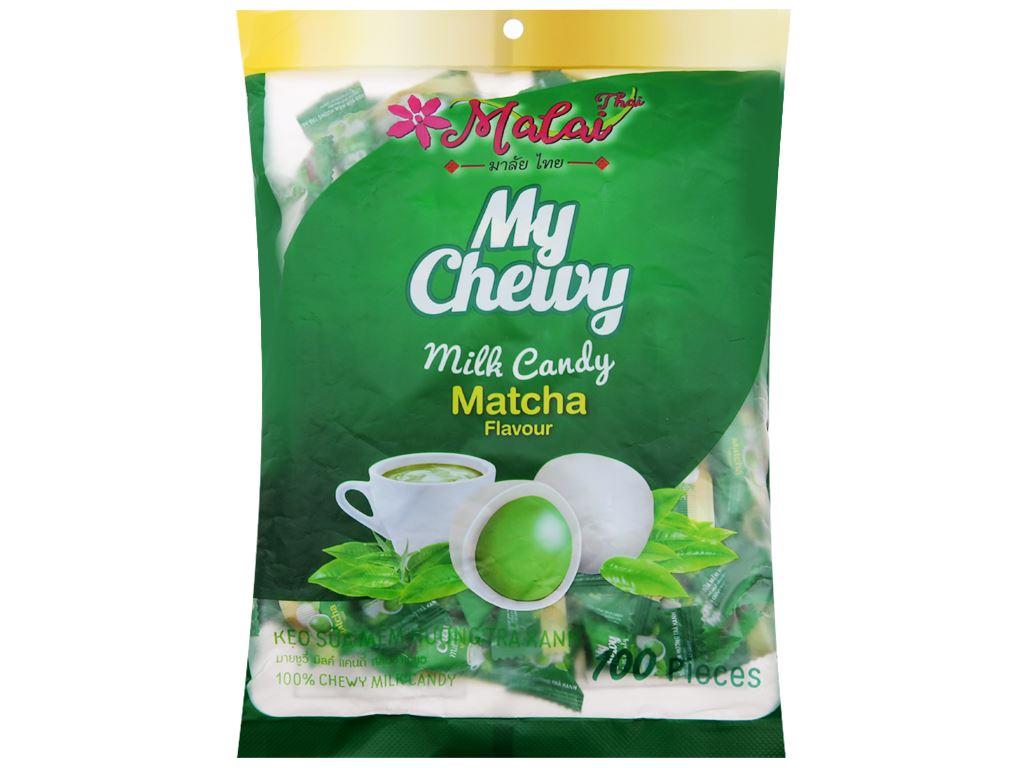 Kẹo sữa mềm vị trà xanh Malai Thai gói 360g 1