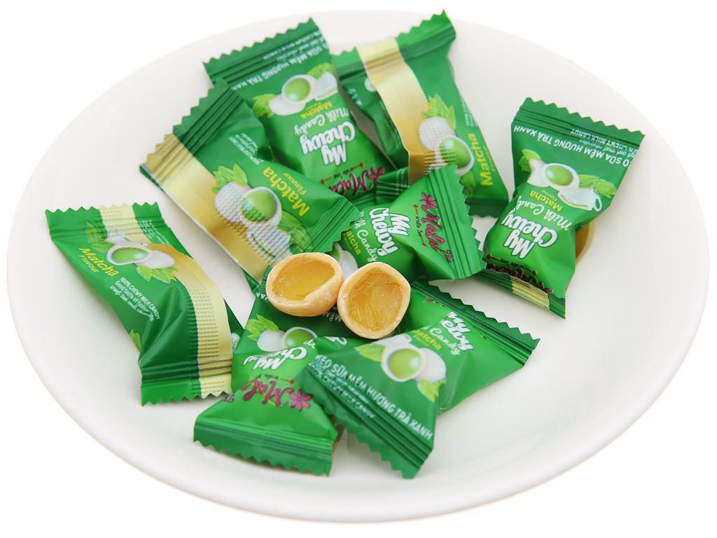 Kẹo sữa mềm vị trà xanh Malai Thai gói 360g 4