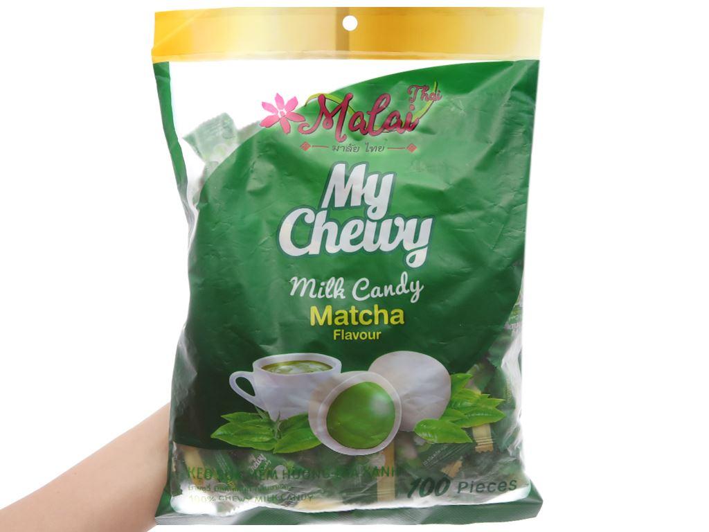 Kẹo sữa mềm vị trà xanh Malai Thai gói 360g 3