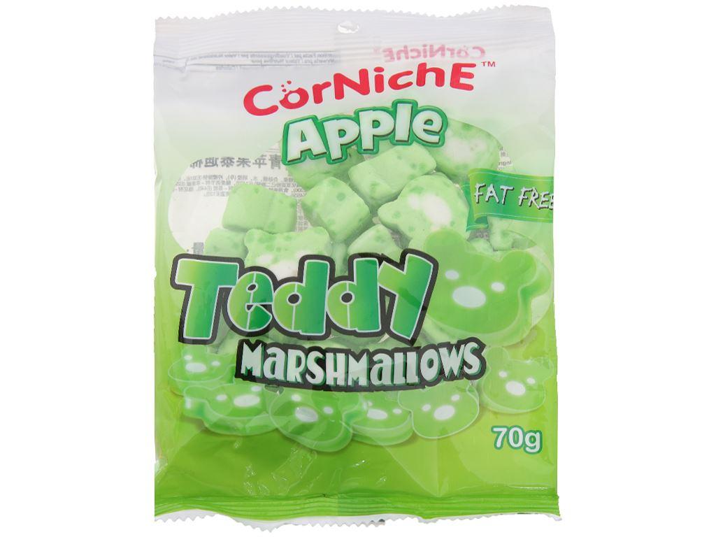 Kẹo xốp hương táo CorNichE Teddy gói 70g 1