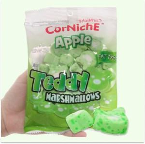 Kẹo xốp hương táo CorNichE Teddy gói 70g