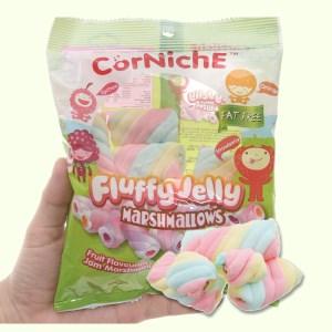 Kẹo xốp hương trái cây CorNichE Fluffy Jelly gói 70g