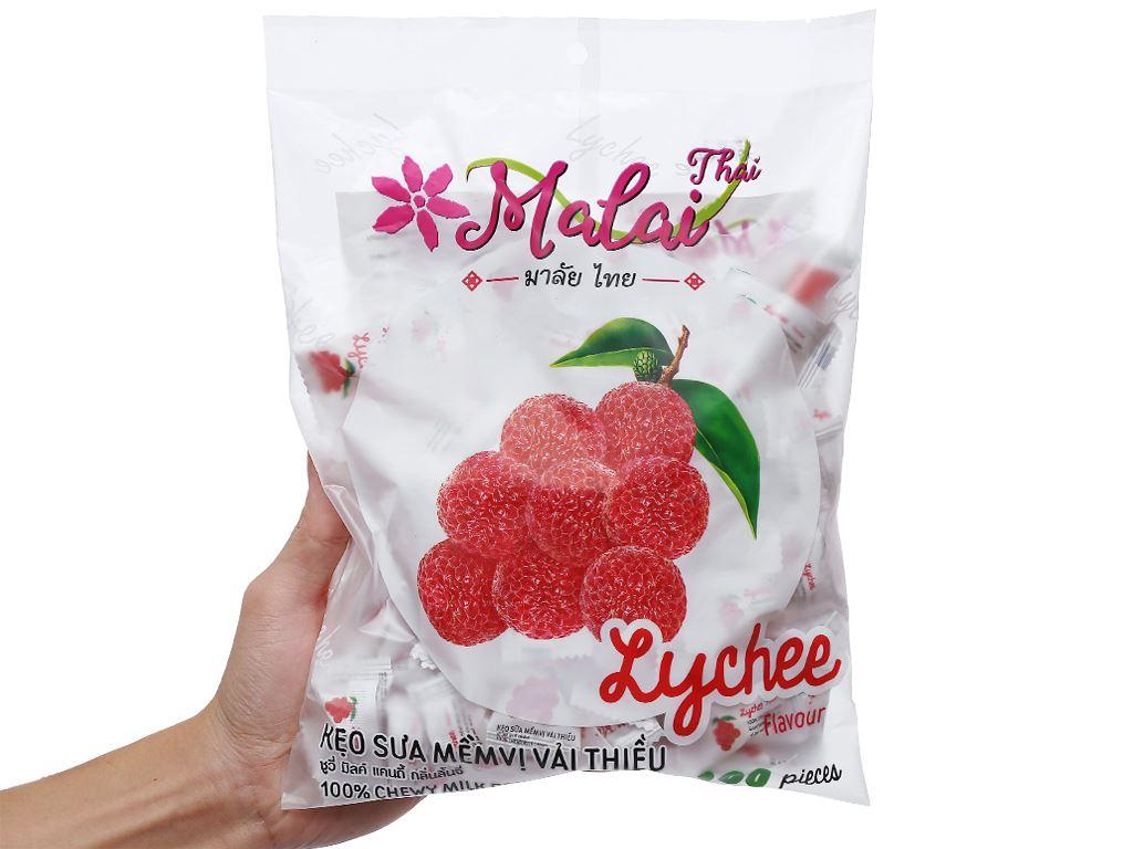 Kẹo sữa mềm vị vải thiều Malai Thai gói 380g 6