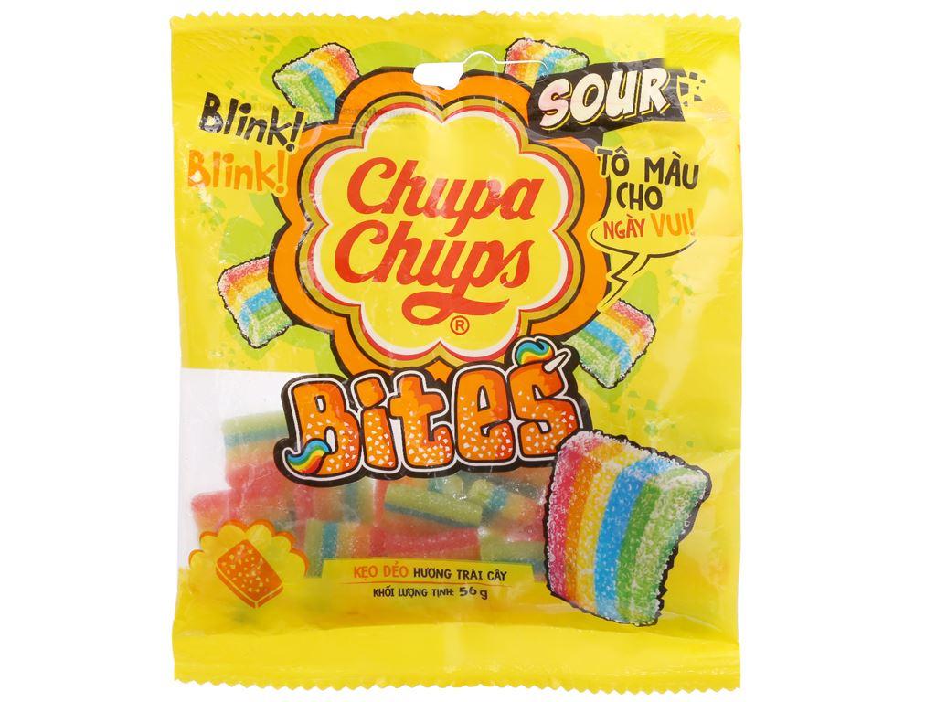 Kẹo dẻo hương trái cây Chupa Chups Bites gói 56g 2