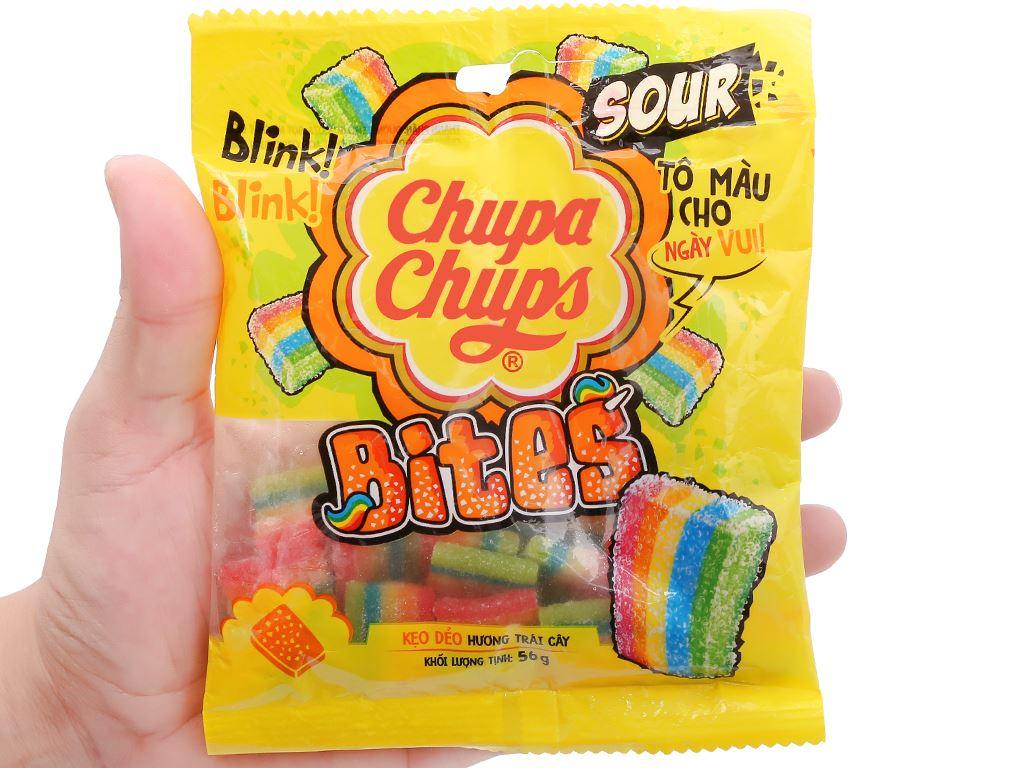 Kẹo dẻo hương trái cây Chupa Chups Bites gói 56g 5