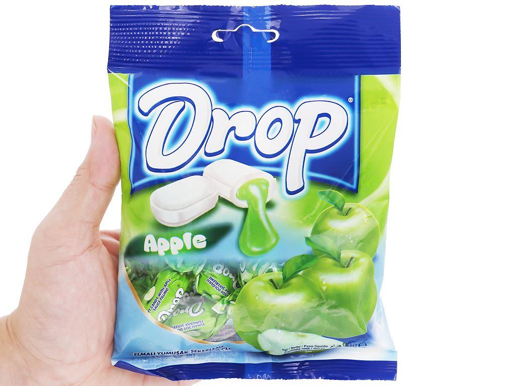 Kẹo mềm nhân táo Drop gói 90g 4