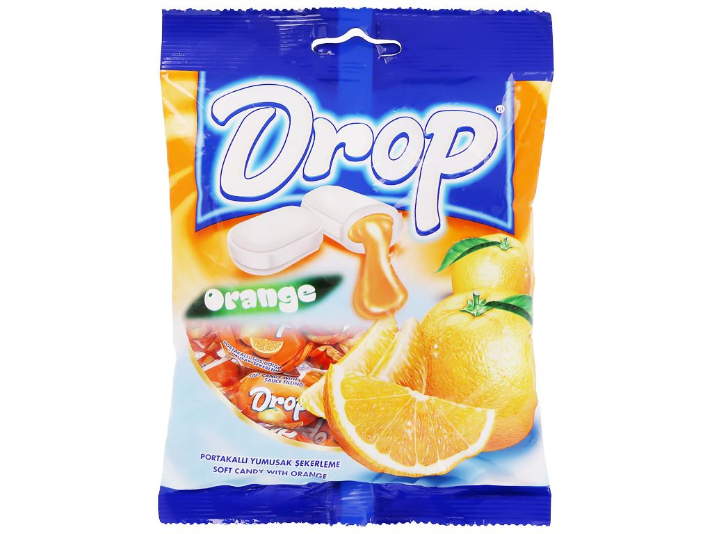 Kẹo mềm nhân cam Drop gói 90g 1