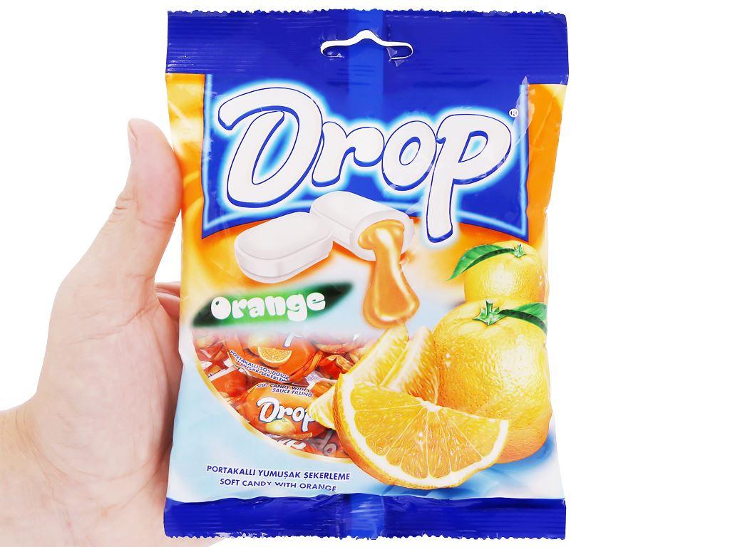 Kẹo mềm nhân cam Drop gói 90g 4