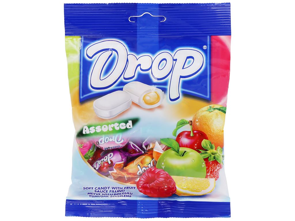 Kẹo mềm nhân trái cây hỗn hợp Drop gói 90g 1