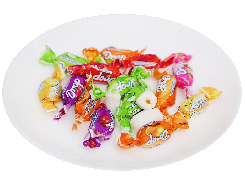 Kẹo mềm nhân trái cây hỗn hợp Drop gói 90g 6