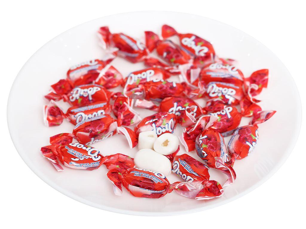 Kẹo mềm nhân phúc bồn tử Drop gói 500g 5