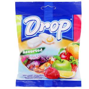 Kẹo mềm nhân trái cây hỗn hợp Drop gói 500g