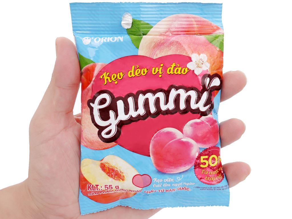 Kẹo dẻo vị đào Orion Gummi gói 55g 5