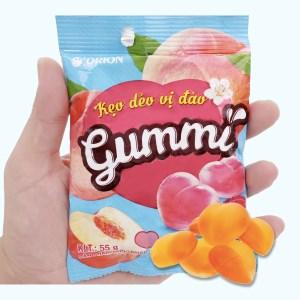 Kẹo dẻo vị đào Orion Gummi gói 55g