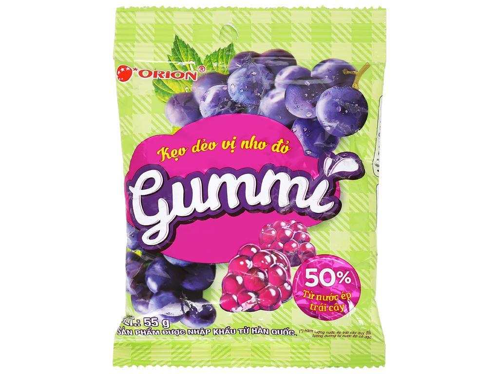 Kẹo dẻo vị nho đỏ Orion Gummi gói 55g 1
