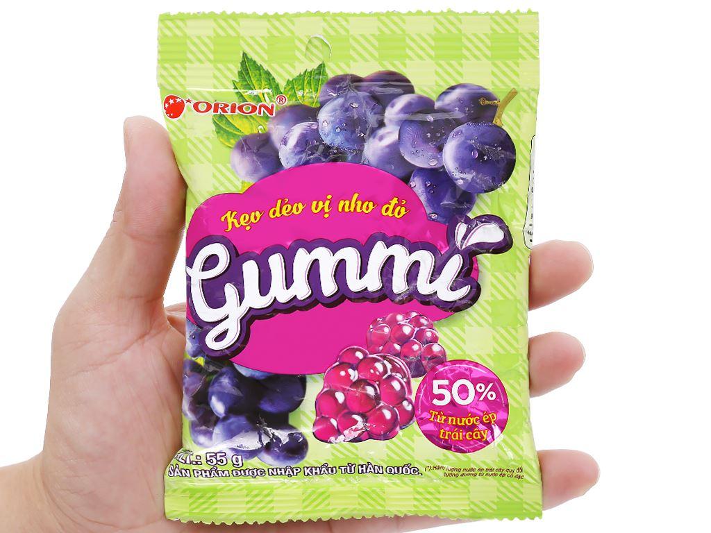 Kẹo dẻo vị nho đỏ Orion Gummi gói 55g 5