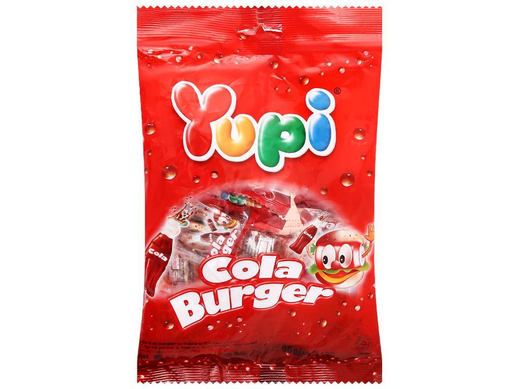 Kẹo dẻo Yupi Cola Burger gói 96g 1