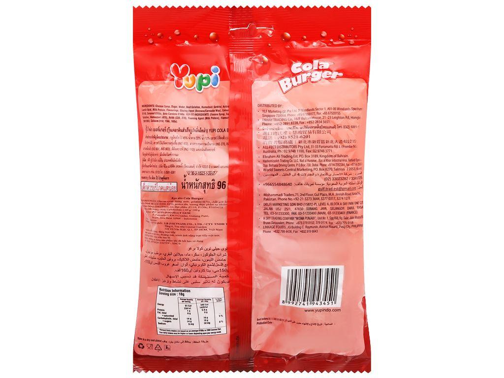 Kẹo dẻo Yupi Cola Burger gói 96g 2