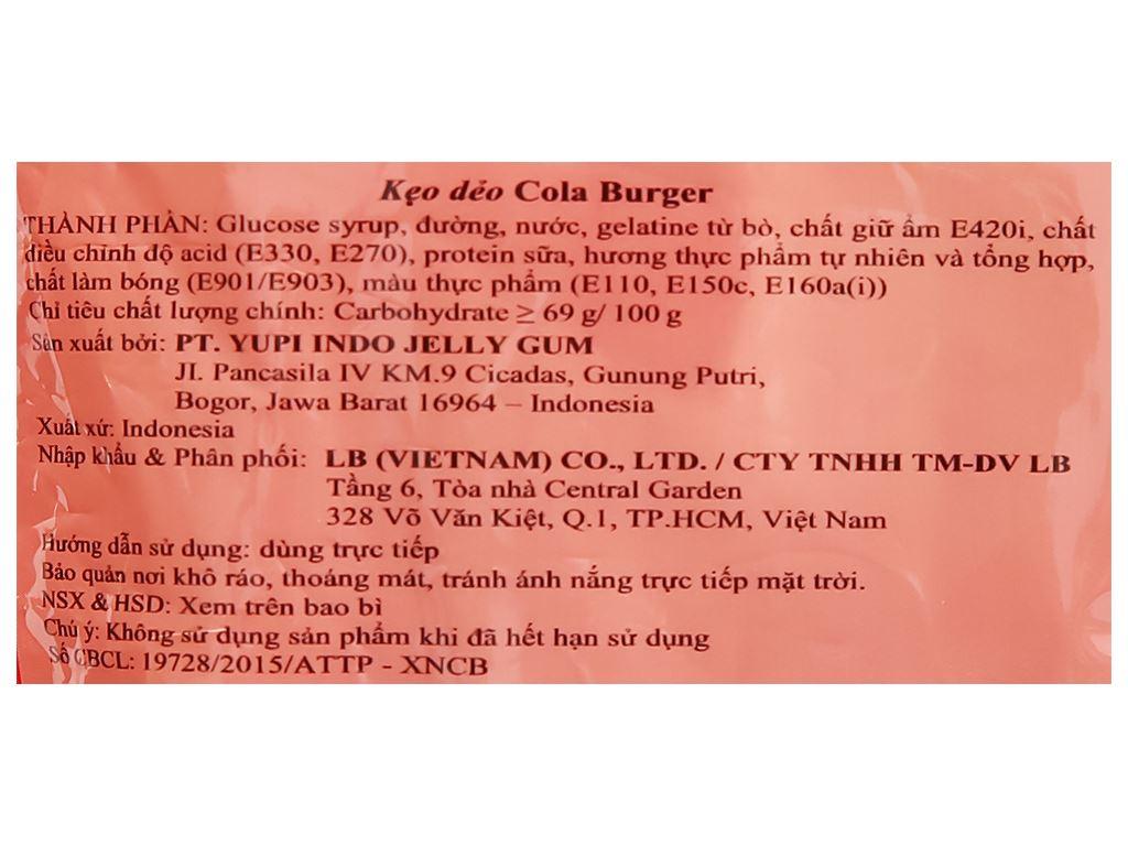 Kẹo dẻo Yupi Cola Burger gói 96g 3