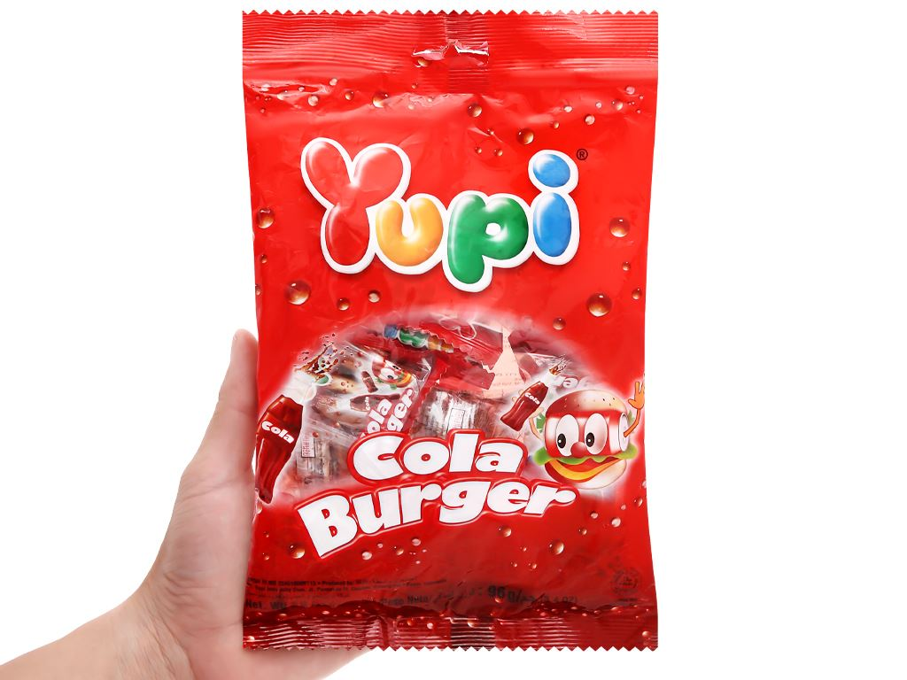 Kẹo dẻo Yupi Cola Burger gói 96g 5