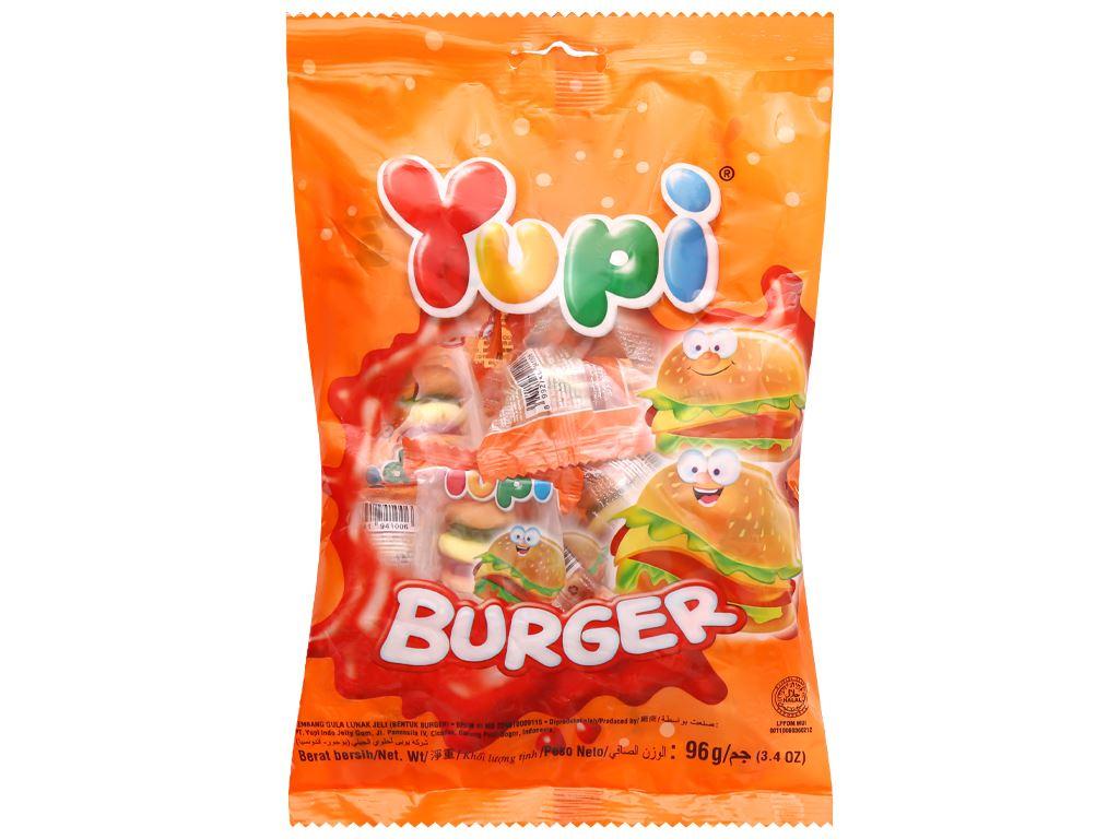 Kẹo dẻo Yupi Burger gói 96g 1