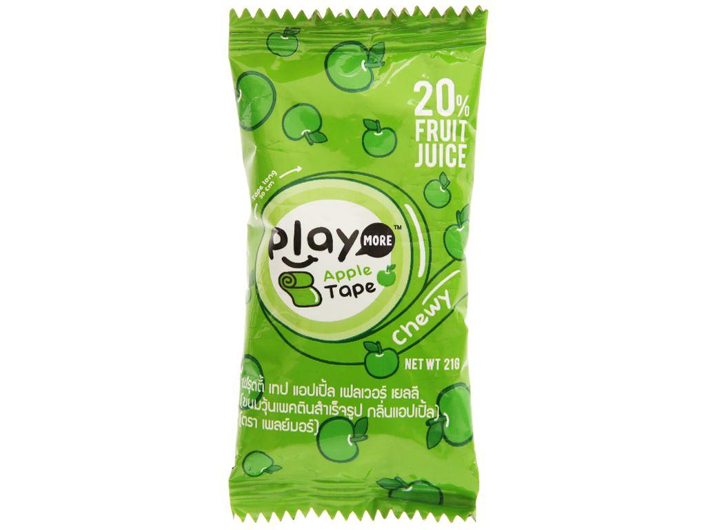 Kẹo dẻo cuộn vị táo Play More gói 21g 1