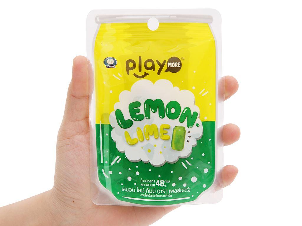 Kẹo dẻo vị cam chanh Play More gói 48g 4